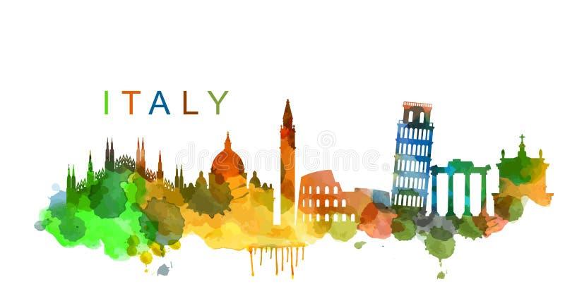 Wektorowy Włochy royalty ilustracja