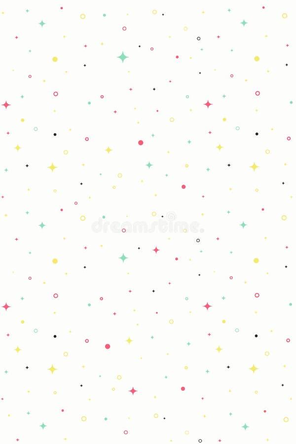 Wektorowy wakacje wzoru tło Biały wektorowy bezszwowy wzór ilustracji