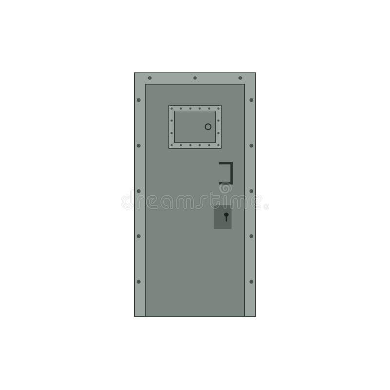 Wektorowy więźniarski drzwi royalty ilustracja