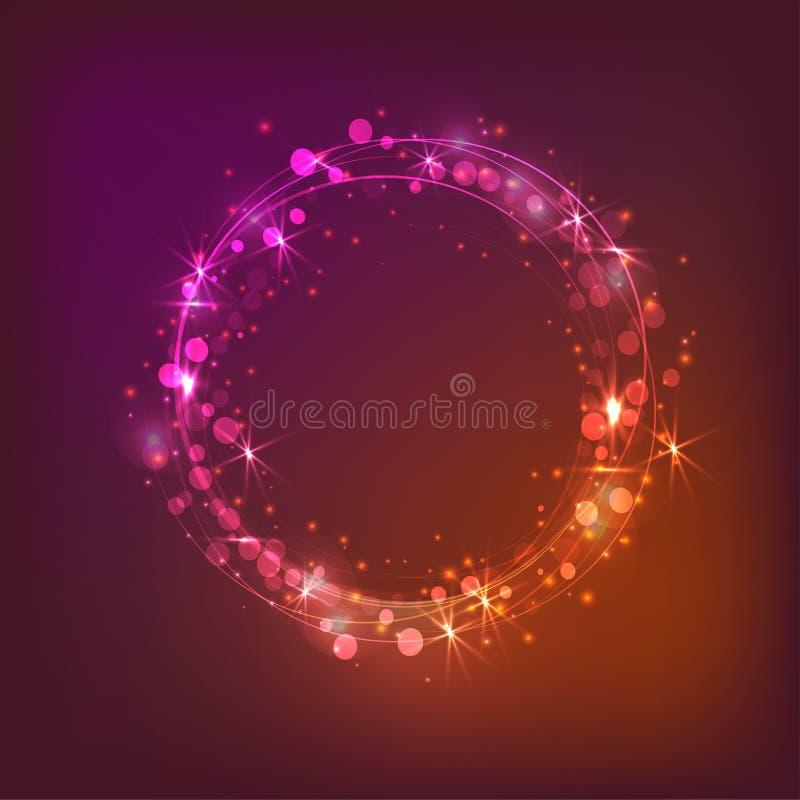 Wektorowy wianek światła Magiczny okrąg royalty ilustracja
