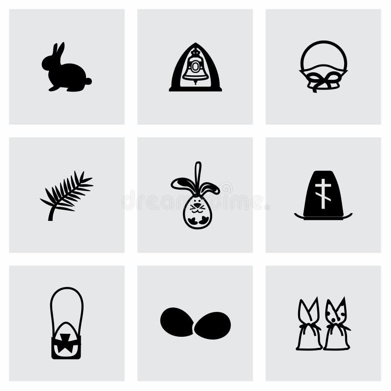 Wektorowy Wielkanocny ikona set ilustracji