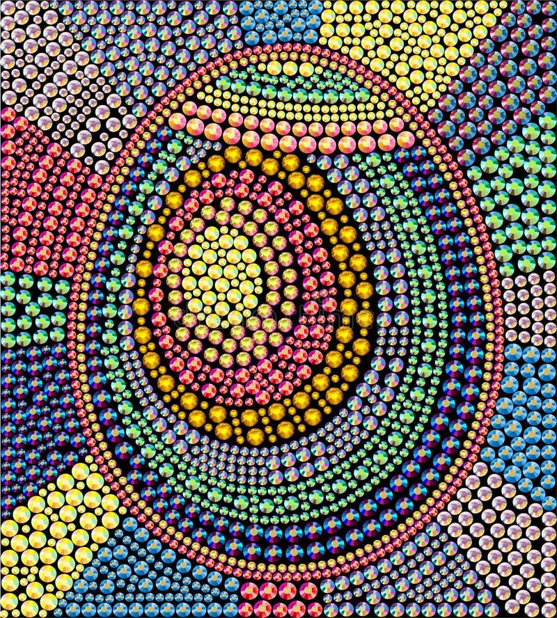 Wektorowy Wielkanocny rhinestone tło ilustracji