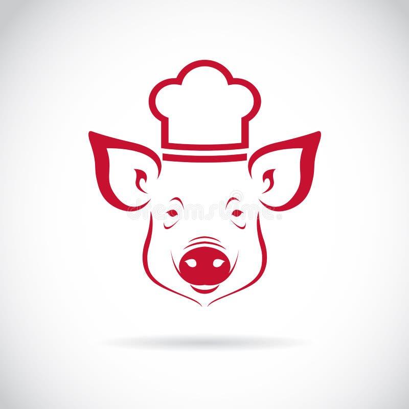 Wektorowy wizerunek Świniowaty szef kuchni royalty ilustracja