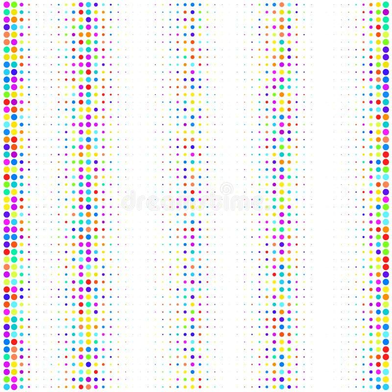 Wektorowy wizerunek barwione kropki na białym tle ilustracji