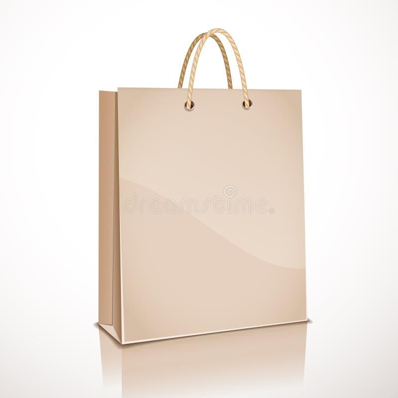 Wektorowy wizerunek brown papierowa torba ilustracja wektor