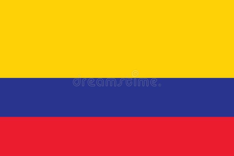 Wektorowy wizerunek dla Kolumbia flagi Opierający się na dokładnej Kolumbijskiej fladze i urzędniku royalty ilustracja