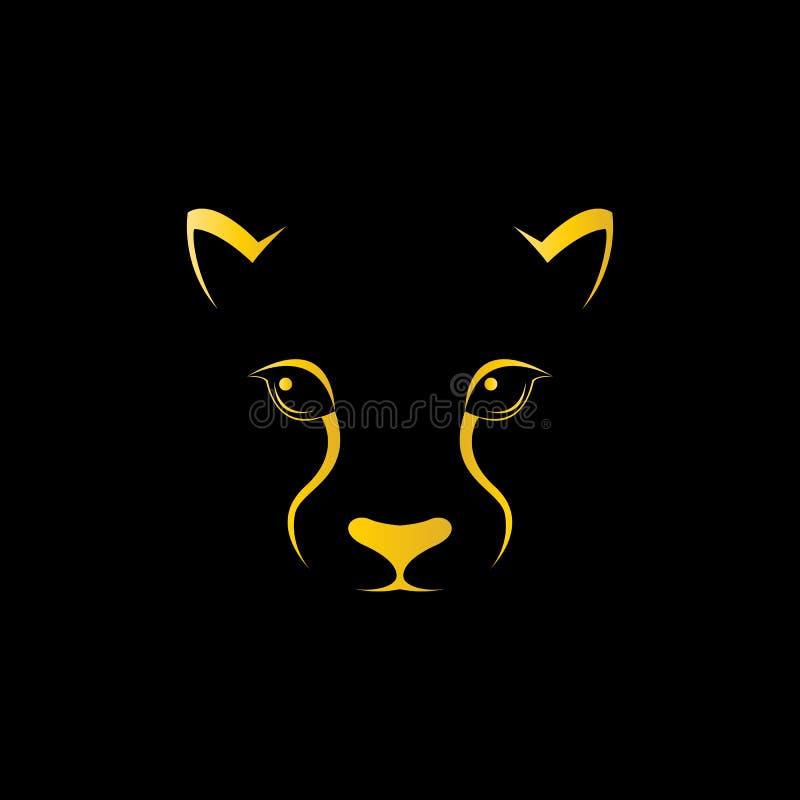 Wektorowy wizerunek gepard twarz royalty ilustracja