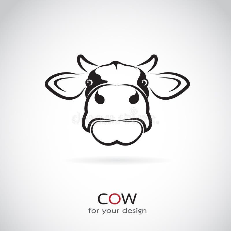 Wektorowy wizerunek krowy głowa royalty ilustracja