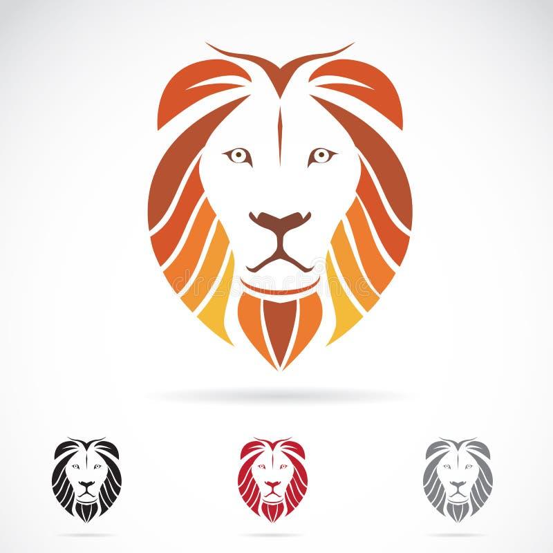 Wektorowy wizerunek lew głowa royalty ilustracja