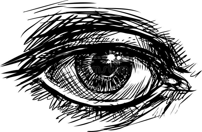 Oko royalty ilustracja