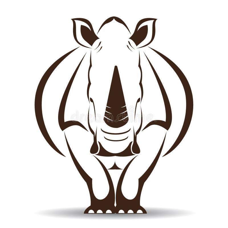 Wektorowy wizerunek nosorożec ilustracja wektor