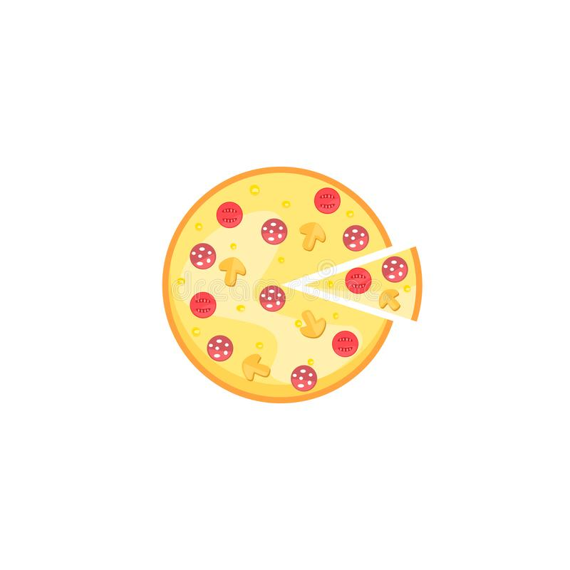 Wektorowy wizerunek pizza ilustracja wektor