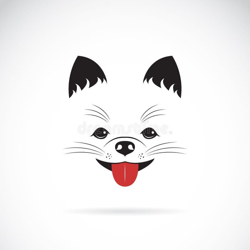 Wektorowy wizerunek pomeranian pies ilustracja wektor