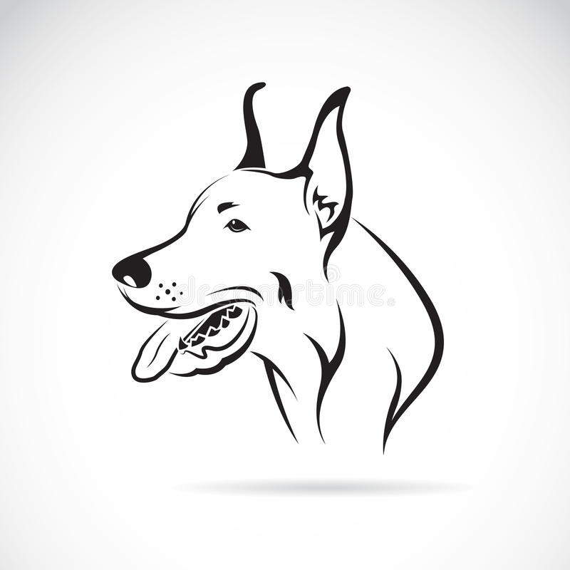 Wektorowy wizerunek psi (wielki dane) ilustracja wektor