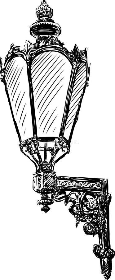 Antyczna lampa royalty ilustracja