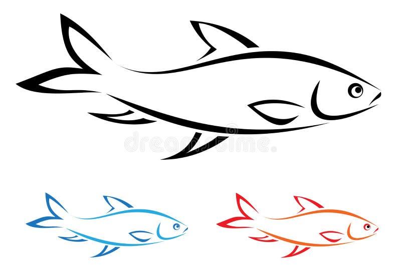 Wektorowy wizerunek ryba ilustracja wektor
