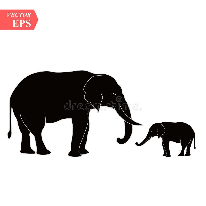 Wektorowy wizerunek słonia projekt na białym tle, Wektorowa słoń ikona dla twój projekta ilustracji