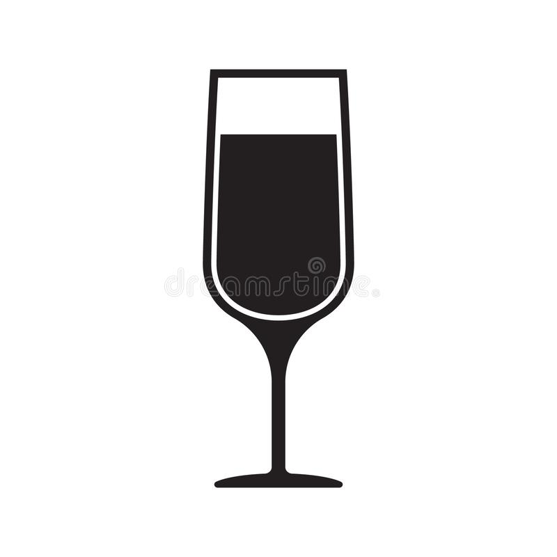Wektorowy wizerunek szampa?ska szk?o ikona Wineglass wektor, wina szk?a ikona, symbol ilustracji