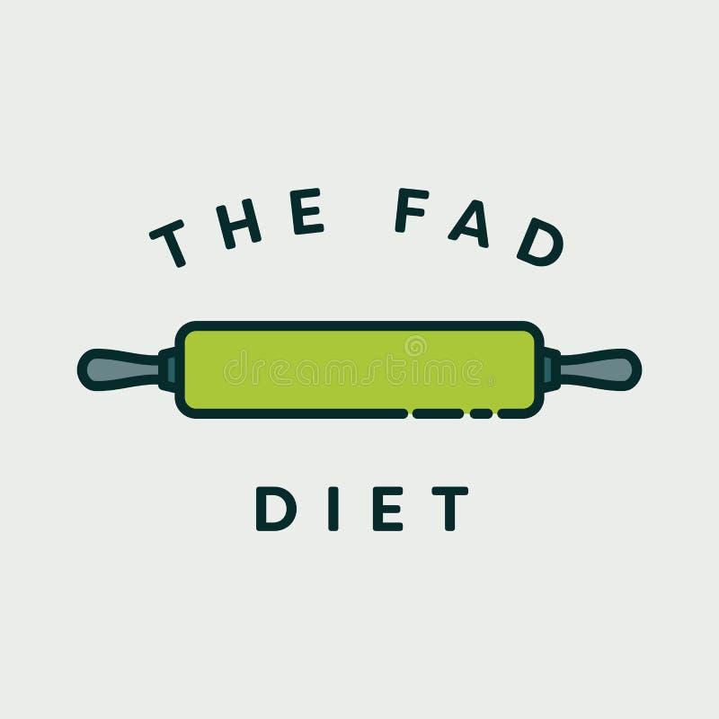 Wektorowy wizerunek toczna szpilka z tekstem dziwactwo dieta ilustracja wektor
