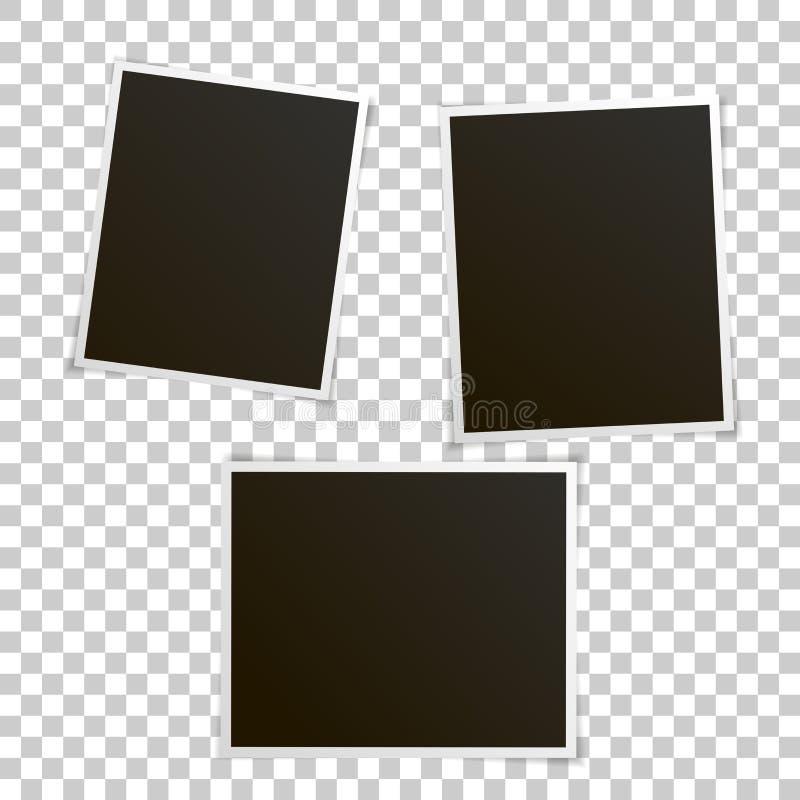 Wektorowy wizerunek ustawiający puste fotografie ilustracji