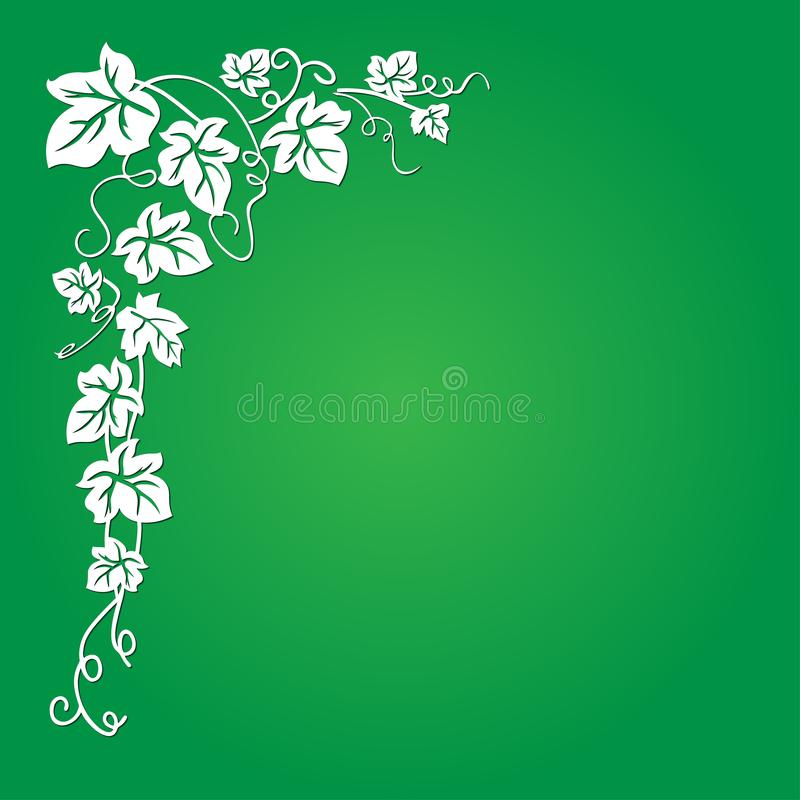 Wektorowy wizerunek winograd z liśćmi przeciw zielonemu tłu - nadający się dla prezentacji, tła, ilustracje, które są dobrze ilustracji