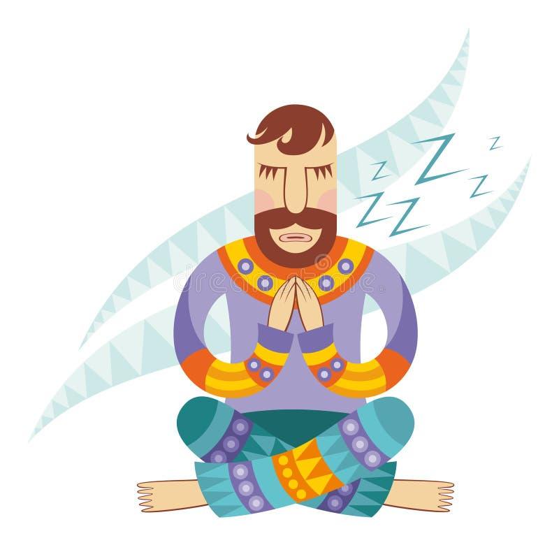 wektorowy wizerunku joga ilustracji