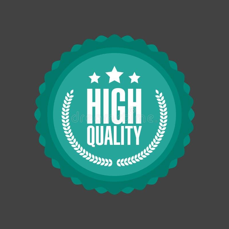 Wektorowy Wysokiej Jakości płaski odznaka znak, Round etykietka ilustracji