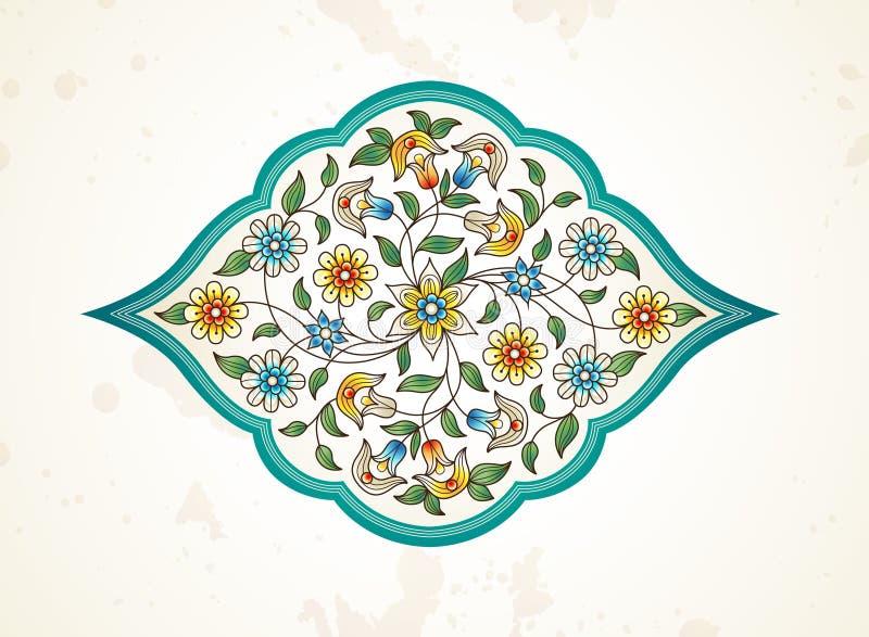 Wektorowy wystrój, arabesk w Wschodnim stylu ilustracji