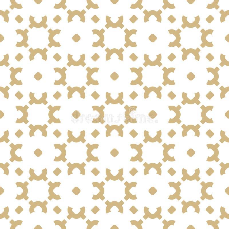 Wektorowy złoto i biały tło Luksusowa ornamentacyjna tekstura Złoty projekt dla wystroju, tkanina, płótno ilustracji