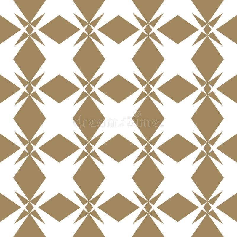 Wektorowy złoty bezszwowy wzór w azjata stylu elegancki tła złota royalty ilustracja