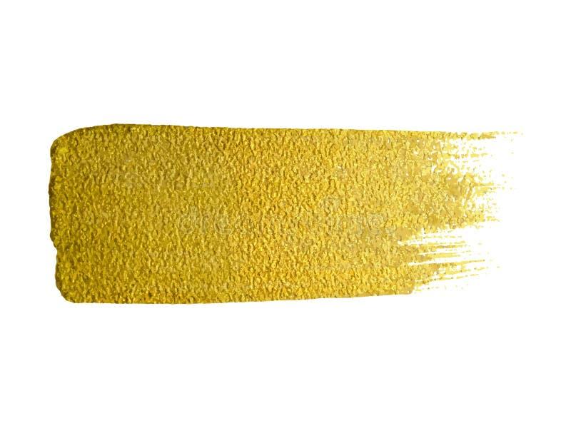 Wektorowy z?ocisty farba rozmazu uderzenia plamy set Abstrakcjonistyczna z?ocista po?yskuje textured sztuka royalty ilustracja