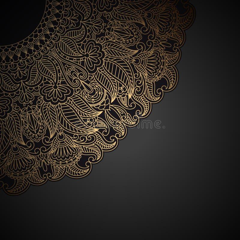 Wektorowy złocisty ornament.