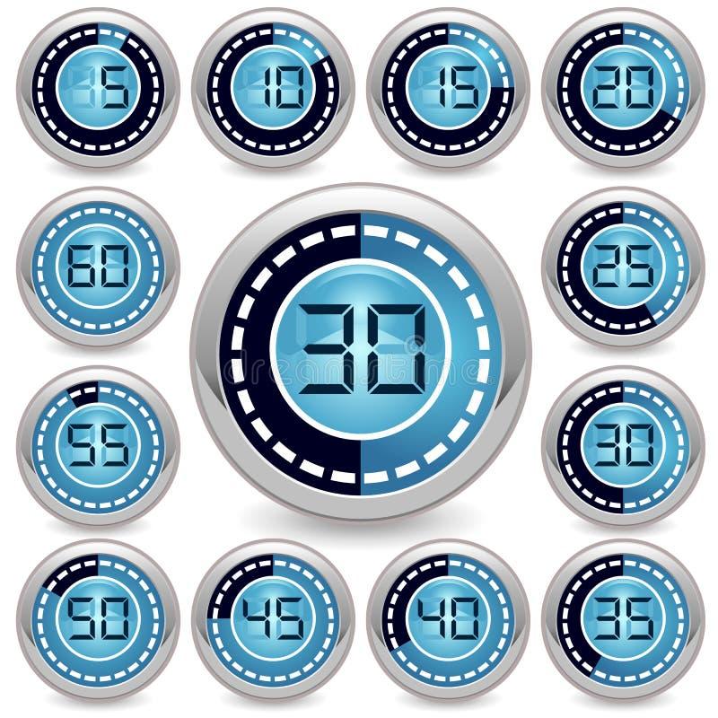 Wektorowy zegar ilustracja wektor