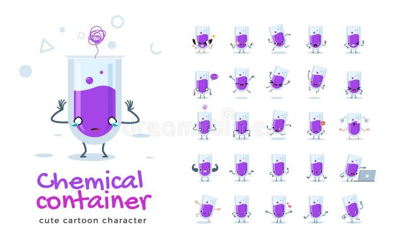 Wektorowy zestaw rysunków z serii Chemical Tube Ilustracja wektorowa ilustracja wektor