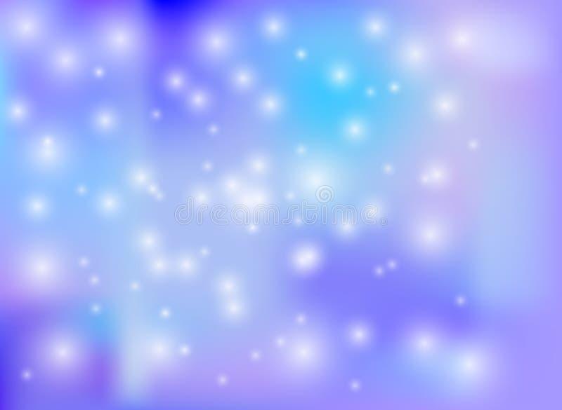 Wektorowy zimy krainy cudów tło, Tapetowy Kolorowy szablon, wakacje ilustracja wektor