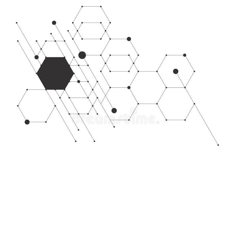 Wektorowych abstrakcjonistycznych nowożytnych pudełek technologiczni tła royalty ilustracja