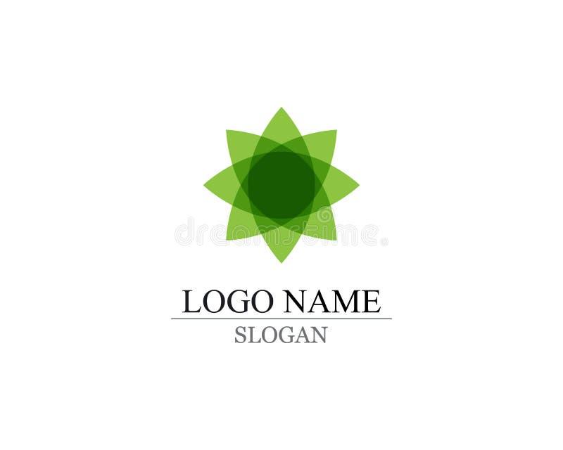 Wektorowych liści natury zielony logo i symbol obrazy stock