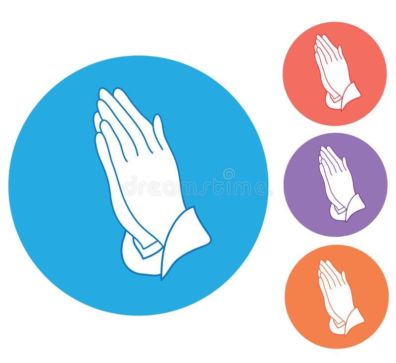 Wektorowych modlenie ręk Religijny tło ilustracja wektor