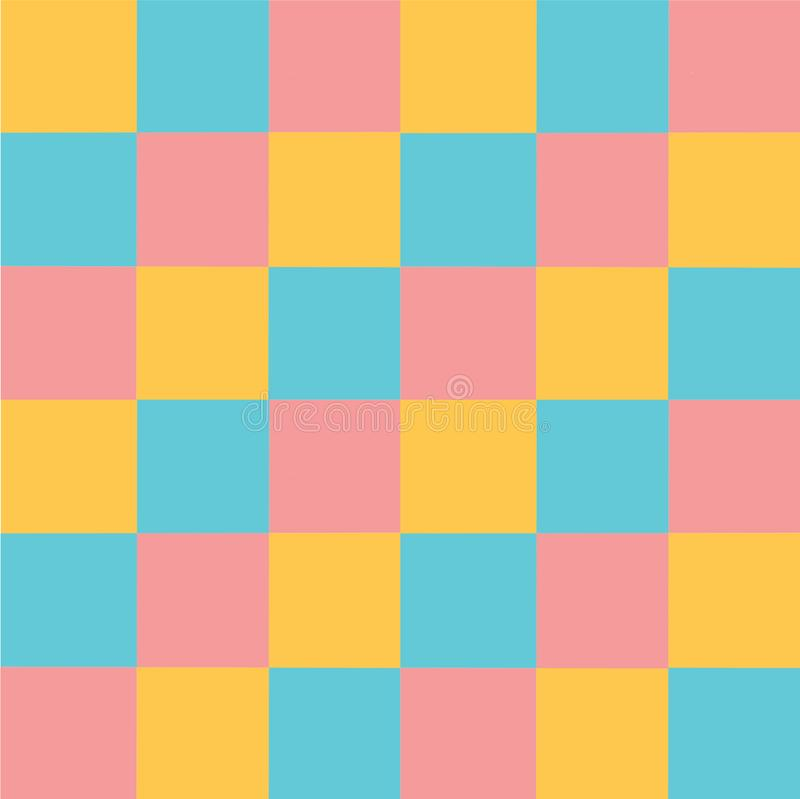 Wektorowych multicoloured pastelowych kwadratów deseniowy Abstrakcjonistyczny tło ilustracji