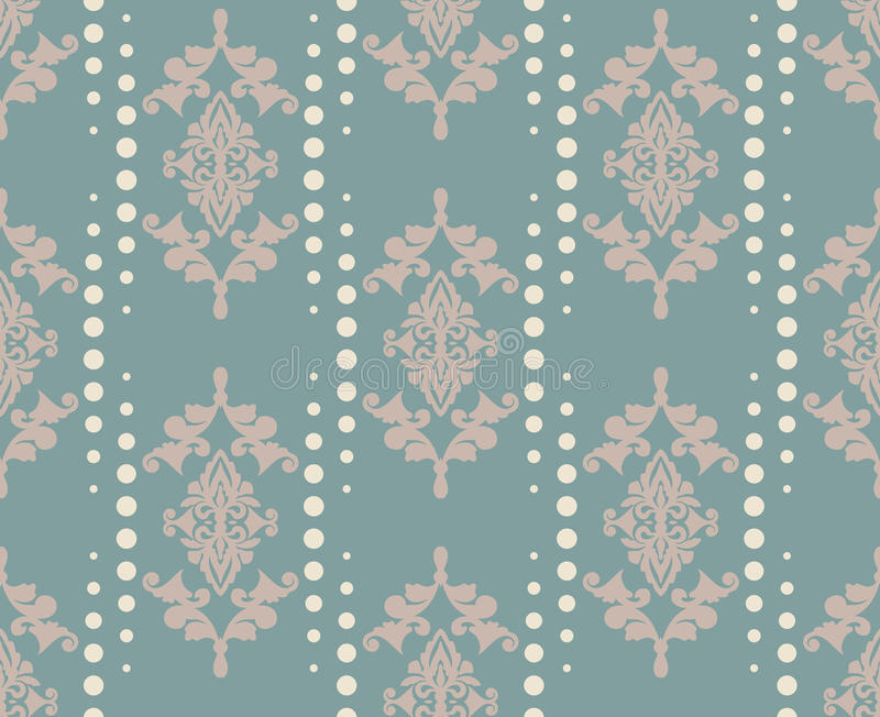 Wektoru adamaszka wzoru ornament Elegancka luksusowa tekstura dla tkaniny, tkanin lub tapet tło, royalty ilustracja