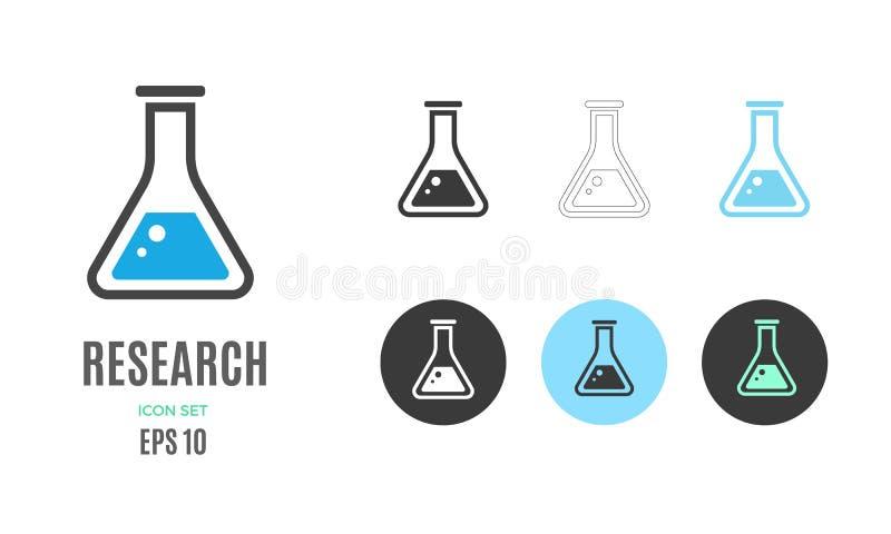 Wektoru badawczy infographic szablon Kolor ikona dla twój prezentacji lub ilustracji ilustracja wektor