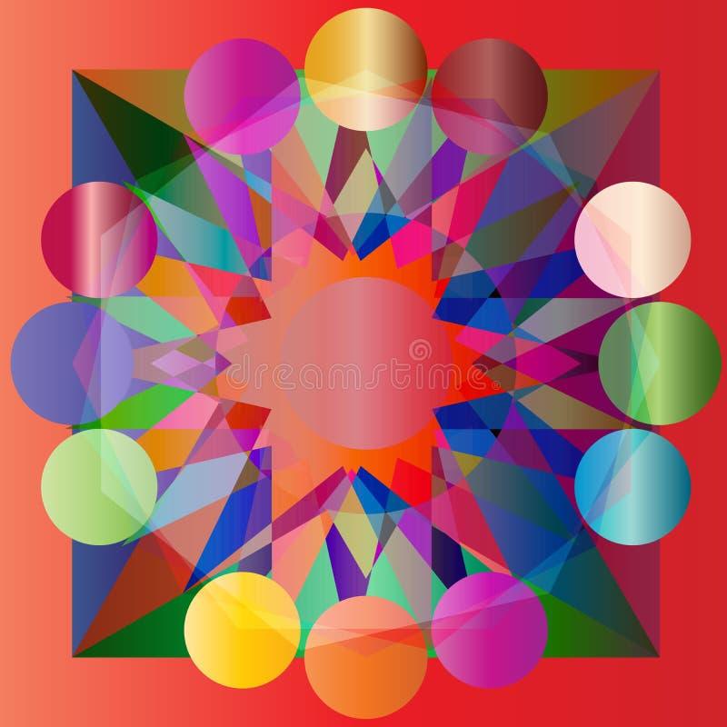 Wektoru barwiony geometrical abstrakcjonistyczny tło obraz stock