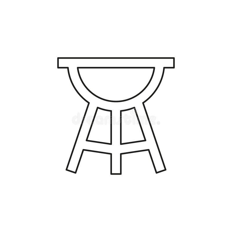 Wektoru bbq grilla ilustracja - jedzenie partyjna ikona royalty ilustracja