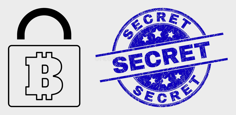 Wektoru Bitcoin kędziorka Kreskowa ikona i Porysowana sekretu znaczka foka royalty ilustracja