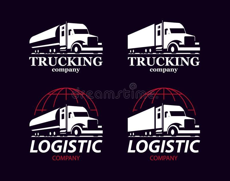 Wektoru ciężarowy logo royalty ilustracja