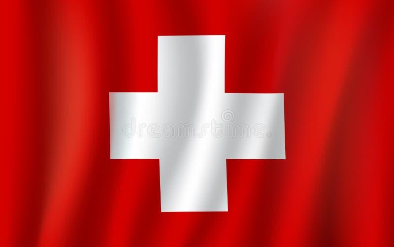 Wektoru 3D flaga Szwajcaria krajowy symbol royalty ilustracja