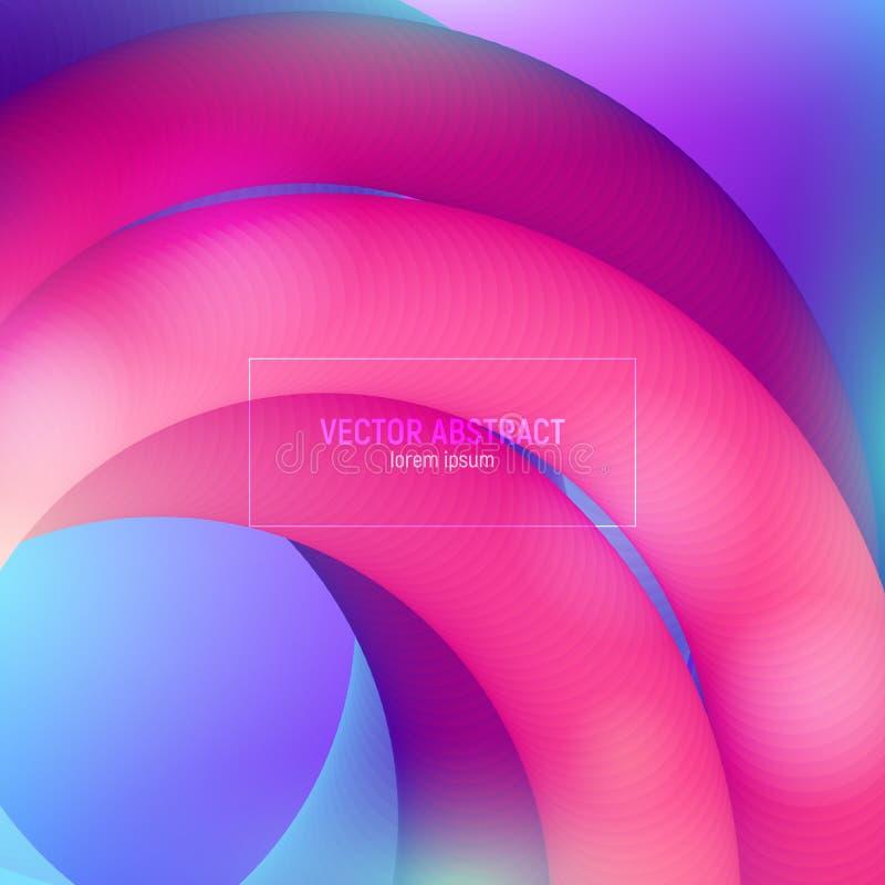 Wektoru 3d fluidu Kolorowi kształty Nowożytny Kolorowy ciecz Projekt dla Muzycznego plakata, broszurka, układ Abstrakt fali pokry ilustracji