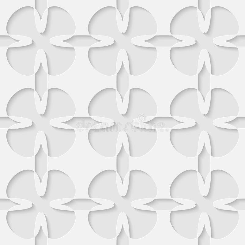 Wektoru 3d kwiatu abstrakta bezszwowy wzór ilustracji