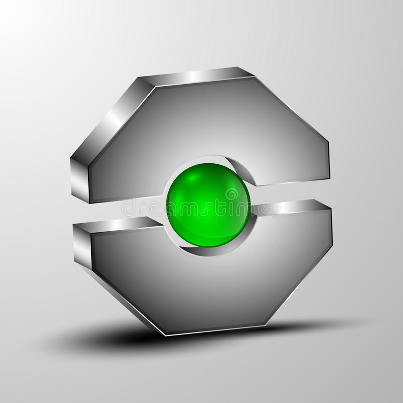 Wektoru 3d pojęcia logo fotografia stock
