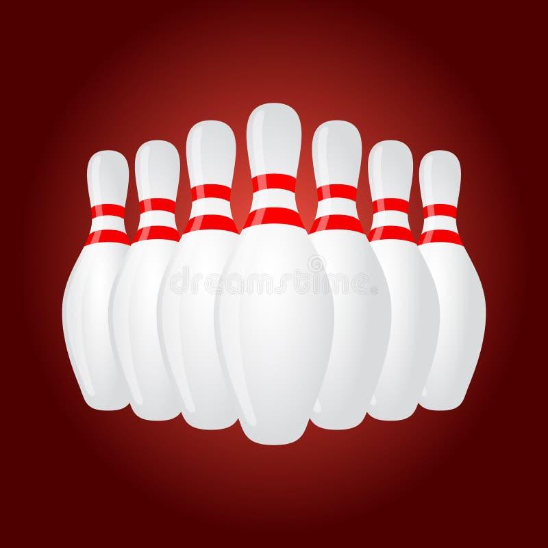 Wektoru 3d realistyczni kręgle dla rzucać kulą Sporta wyposażenia pojęcie ilustracji